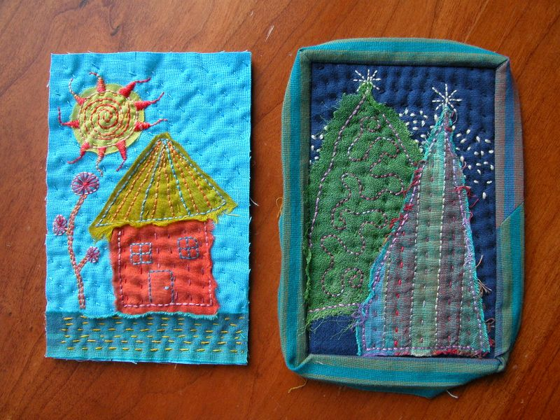 Mini Quilts (Postcards) for SOQS