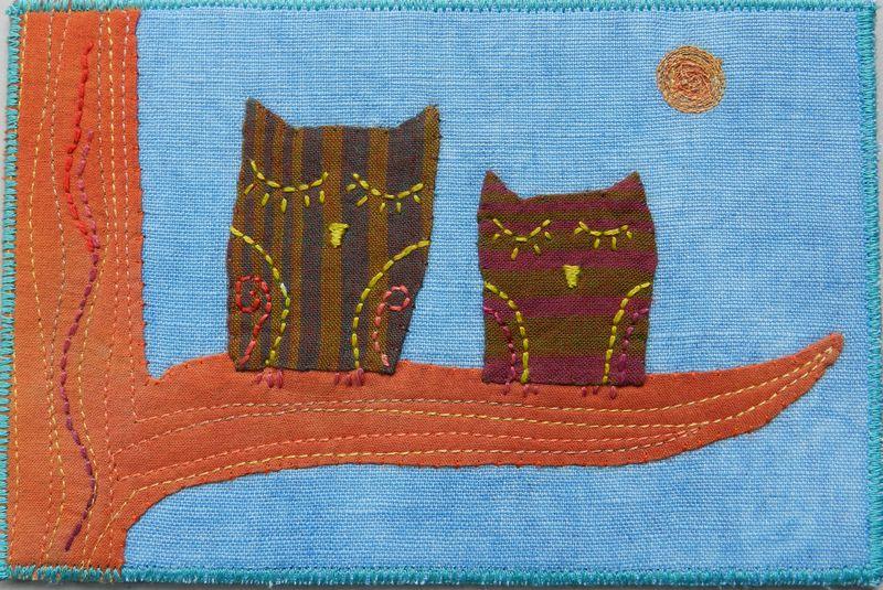 Sleeping Owls Postcard