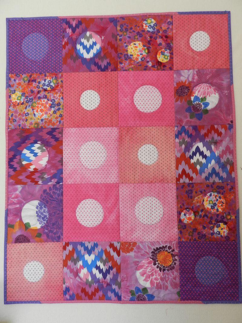 Itajime baby community quilt
