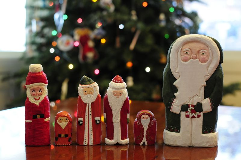 Santa collection All Hand Carved by Chloe for Kristin (2)