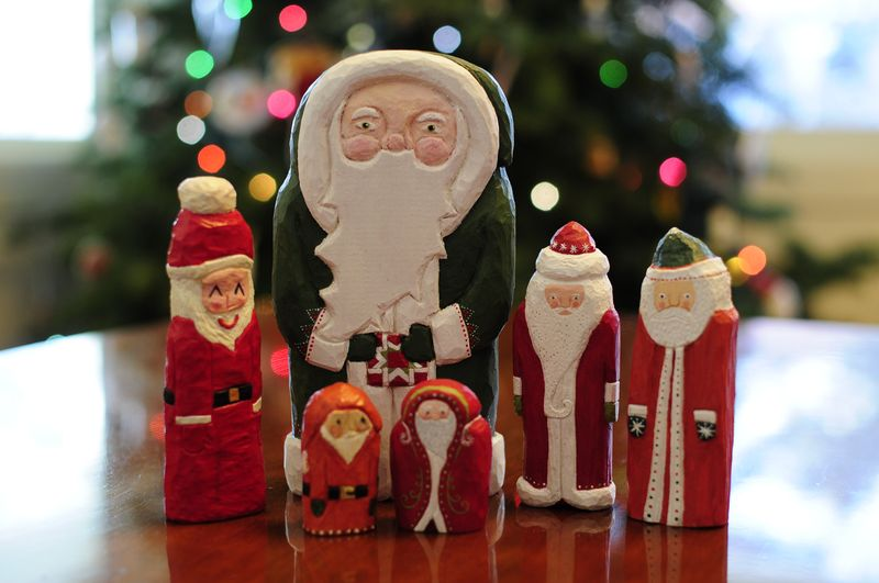 Santa collection All Hand Carved by Chloe for Kristin (1)