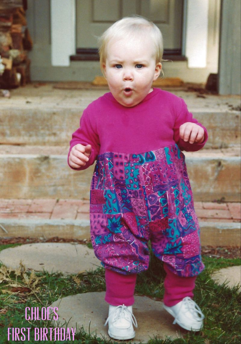 Chloe February 4, 1994, One Year Old caption
