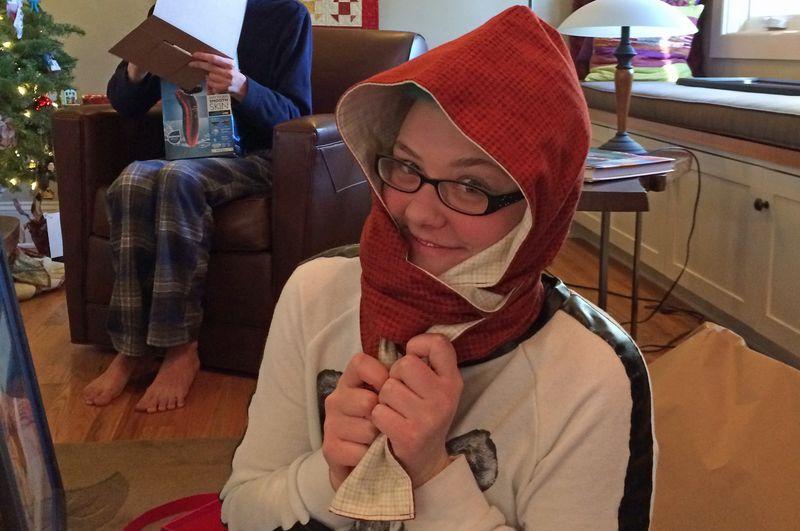 Chloe's Hooded Scarf