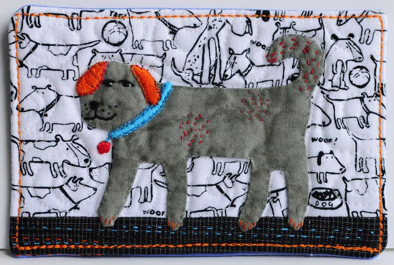 SOQS Fabric Postcard- Dog